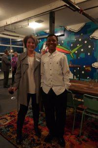 Development Co-Chair, Gail King with Horizons Graduate, C.J.